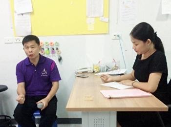 การประชุมแผนการพัฒนาและตรวจเยี่ยมหอพักนักศึกษา ประจำสับดาห์
