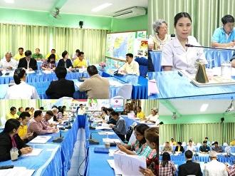 การประชุมคณะที่ปรึกษา คณะกรรมการ และคณะทำงาน ส่งเสริมการผลิตน้ำตาลมะพร้าวแท้จังหวัดสมุทรสงคราม ครั้งที่ 1/2563