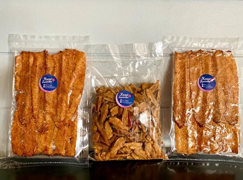 Today's delivery amount # Crispy squid # Cured squid # Pickled shellfish # Three-flavored white fish