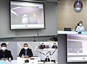 """รก.ผู้อำนวยการ """"ราชภัฏสวนสุนันทา"""" ศูนย์ฯสมุทรสงคราม เข้าร่วมการประชุมคณะกรรมการบริหารมหาวิทยาลัย(กบม.)ครั้งที่ 1/2564  ผ่านระบบ Video Conference"""