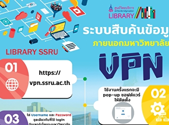 ระบบสืบค้นข้อมูล ภายนอกมหาวิทยาลัย VPN