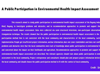 A Public Participation in Environmental Health Impact Assessment